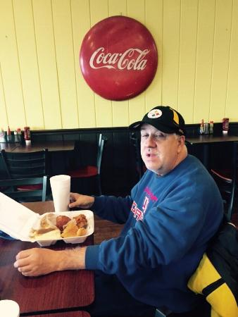 Hinesville, GA: Joey enjoying lunch he wanted seconds