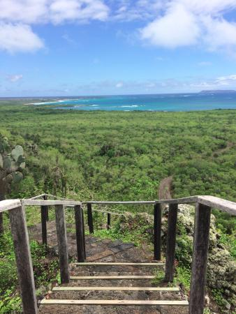 Puerto Villamil, Ecuador: A mini-hike at a stop on the way to the Wall of Tears