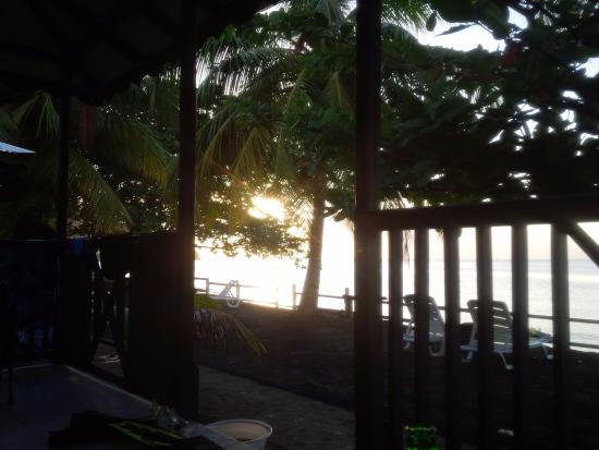 Picard Beach Cottages: View from cottage patio just before sunset