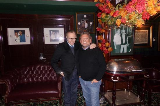 Jim's Steakhouse : Larry King and Charly Stiener