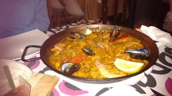 Restaurante Canis: Paella at Cañis