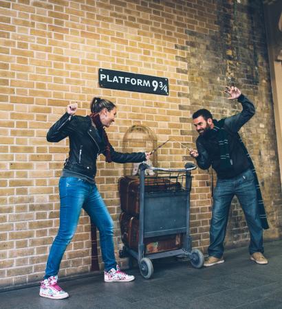 Harry Potter Shop at Platform 9 3/4: Anden 9 3/4