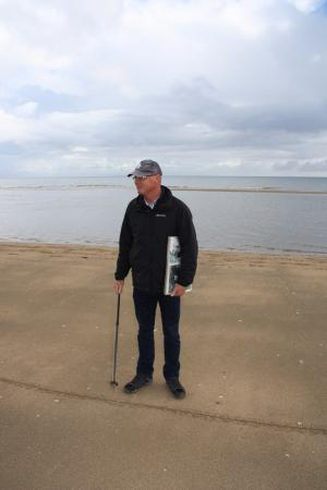 Dale Booth Normandy Tours: Dale Booth maps out battle strategy.