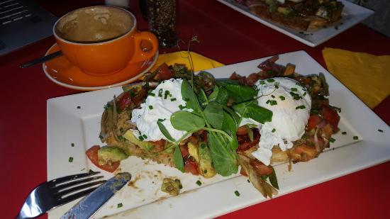 Cafe Zingara : Egg & Bacon Bruscetta - yum.