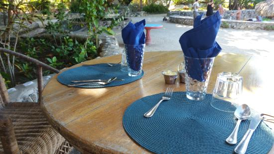 Little Bay, Jamaica: Dining area