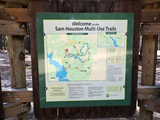 Sign at the area where you park for the ATV trail Picture of Sam