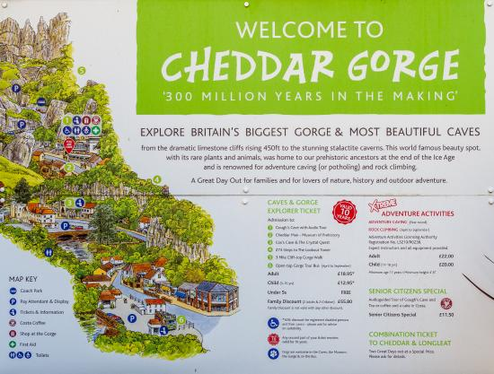 USEFUL MAP Picture of Cheddar Caves & Gorge Cheddar TripAdvisor