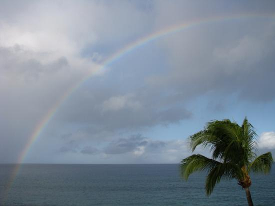 Kaleialoha Condominiums: Beautiful morning rainbow from our deck.