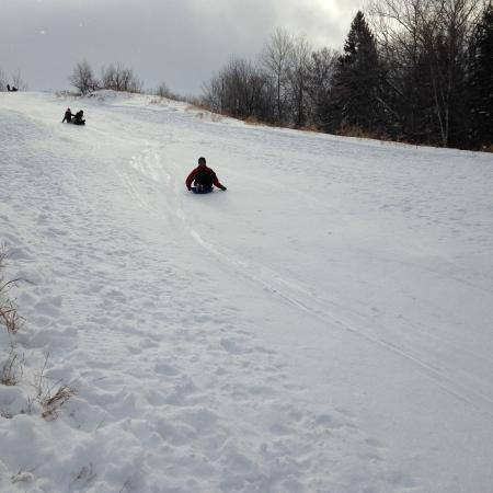 Hecla Island, Canada: More sliding fun