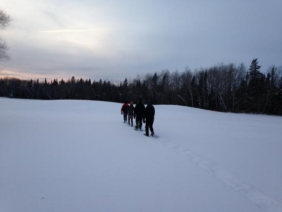 Hecla Island, Canada: Snowshoeing on the 18th hole