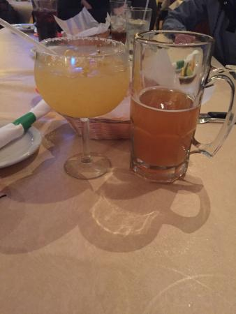 Puerto Nuevo Restaurant: Organic Margarita and Blue Moon