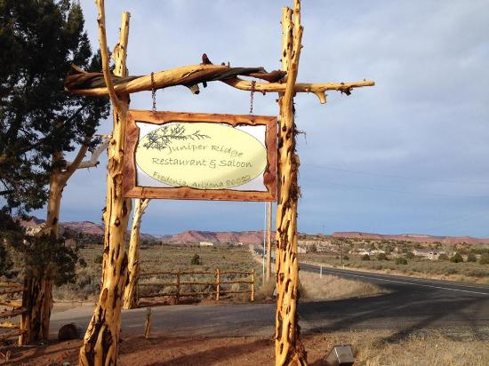 Fredonia, AZ: Road from Kanab to Juniper Ridge Restaurant