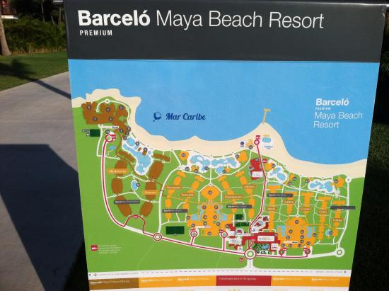 Barcelo Maya Caribe Resort Map