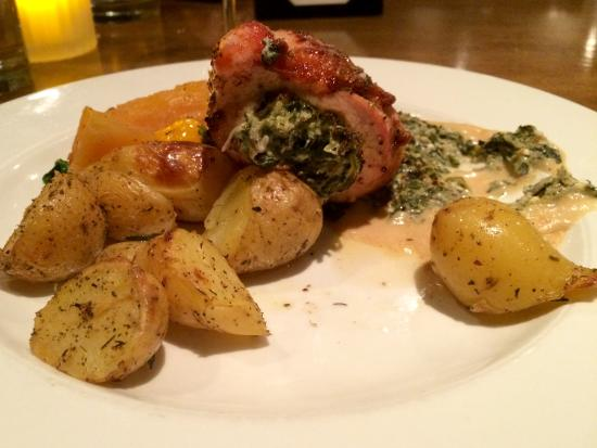 Broken Plate: Zeus Chicken (spinach/feta stuffed)