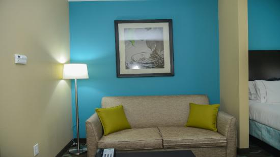 Brand new comfortable sleeper sofa at HI Express Cuero TX