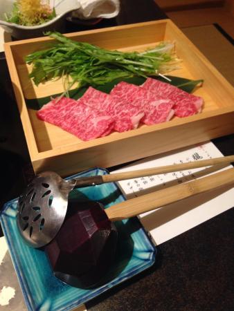 Kanishige Honatsugiten : しゃぶしゃぶ用の肉