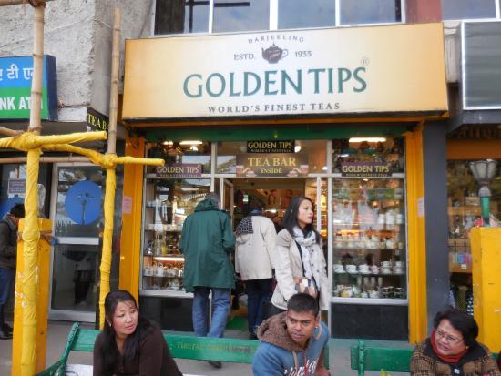 Golden Tips Tea Cosy : Shop Entrance