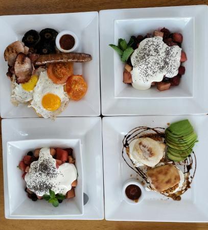 Kin Kin, Australia: our breakfast meals