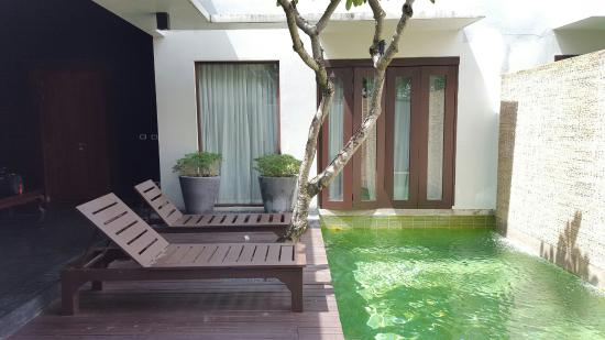 Malisa Villa Suites: 1 bedroom villa pool area