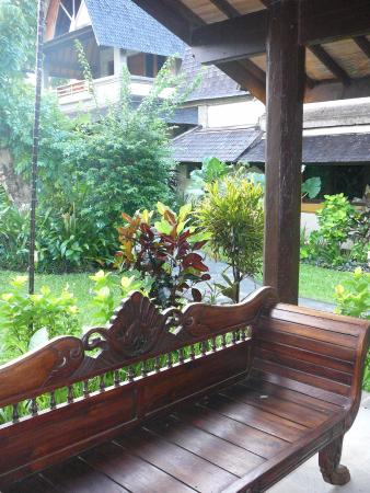 Hotel Vila Lumbung: our villa's verandah
