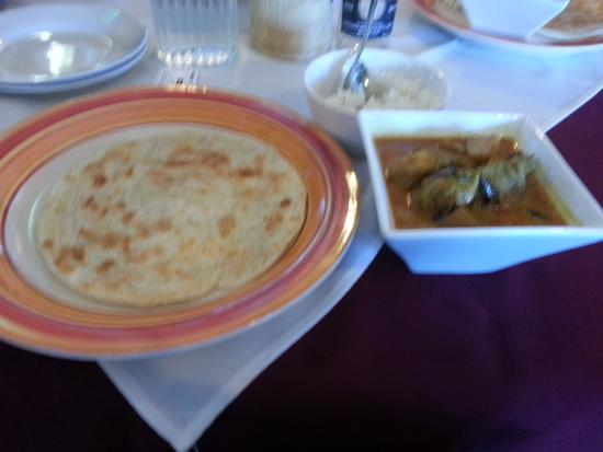 Malaysia Delights Street Food: Appetizing Paratha and Chicken Curry at Malaysia Delights Papanui Christchurch