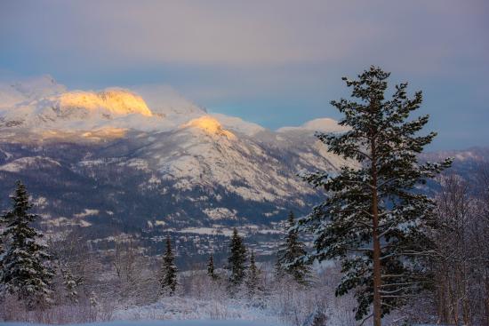 Hemsedal, Noruega: Вид на горы.