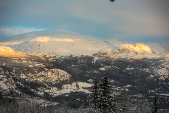 Hemsedal, Noruega: Вид из окна.