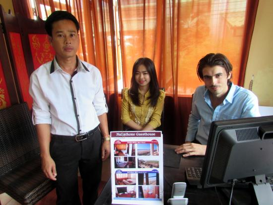 Nalinthone Guesthouse: English, French, Lao, Thai speakers to welcome you