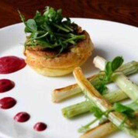 The Brasserie at Barnham Broom: Goat's Cheese Souffle
