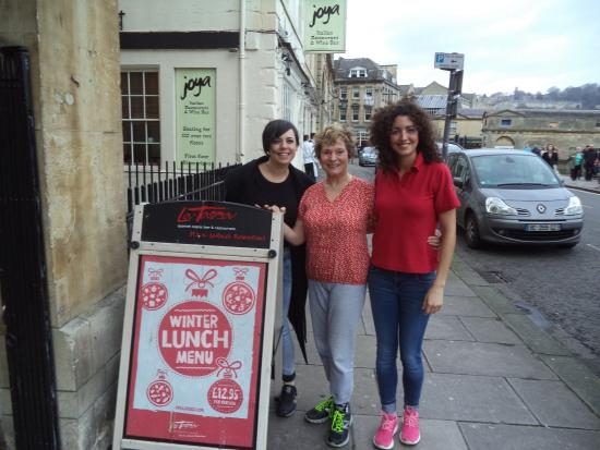 La Tasca Bath: At La Tasca with lovely Teresa and Elena in Bath