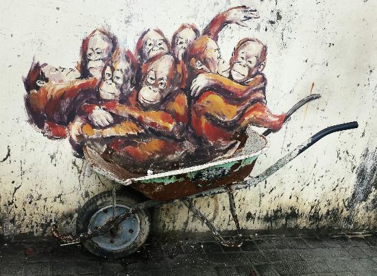 Lukisan Dinding Orang Utan