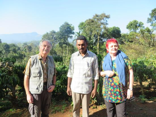 Dhanagiri Home Stay: In the coffee plantation