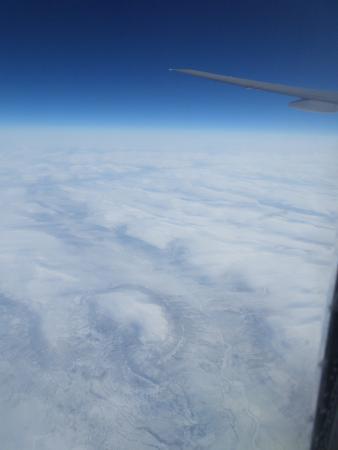 Северо-Западный округ, Россия: Foto volando Norte de Rusia rumbo Honk Kong