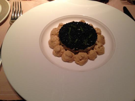 Tourteau caviar de hareng bisque mulsionn e picture for Restaurant le jardin geneve