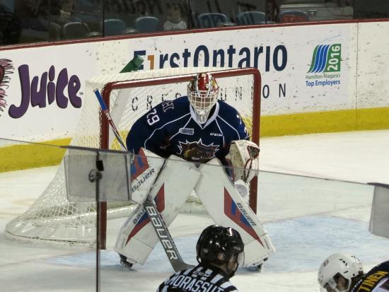 First Ontario Centre: I was 11 rows up from the ice capturing these photo