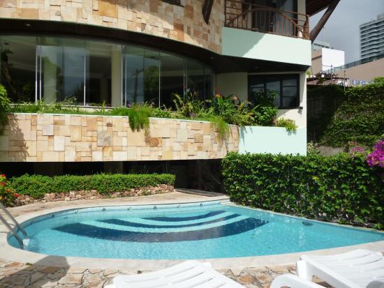 Divi-Divi Praia Hotel: Pequeña pero linda piscina y jardin