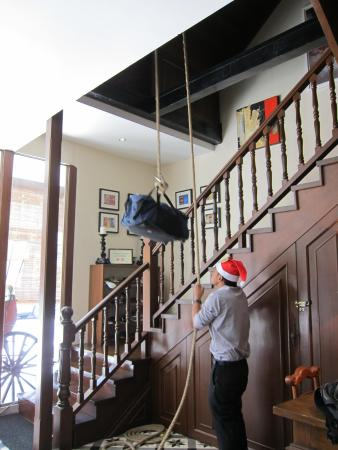 Campbell House: The Bellboy Delivered Our Luggage With A Rope And Pulley  System.