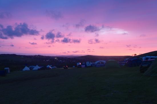 Osmington Mills, UK: Sunset on the farm