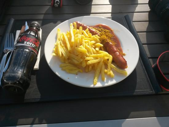 Restaurant Olympiasee: Currywurst