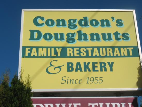 Congdon's Doughnuts: Congdon's sign