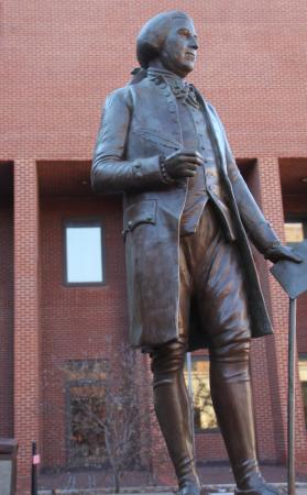 John Hanson National Memorial: Another View of the Statue