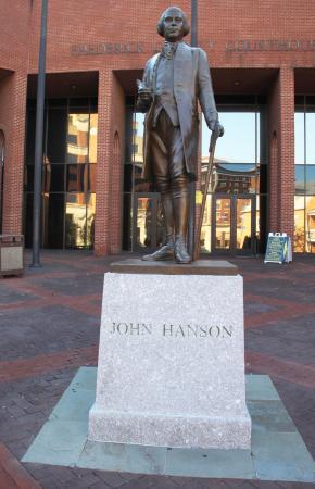 John Hanson National Memorial: Statue of Hanson and Plinth