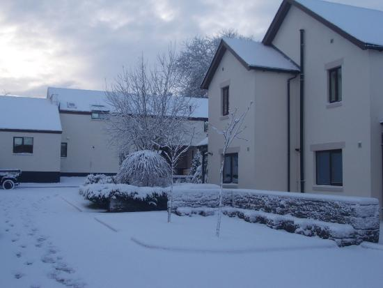 Berrier, UK: Our lodge in the snow