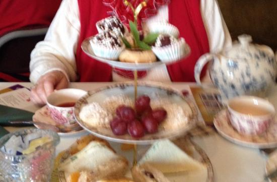 Aurora, IN: Sandwiches and desserts for large group tea lunch. One choice of tea.