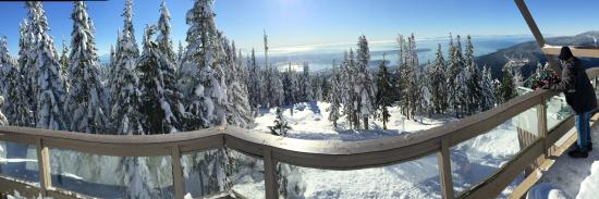 Grouse Mountain View From The Restaurant Outside