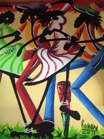 Seastar Inn: Mural in the dining area