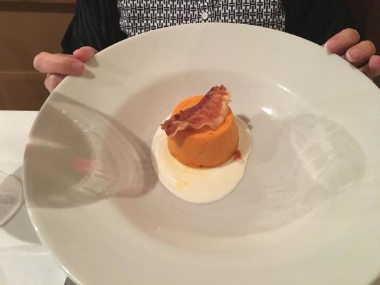 Pumpkin flan thing picture of osteria degli amici rome for Amici italian cuisine boston ma