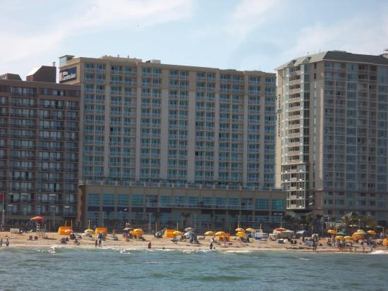 View From Balcony Picture Of Hilton Garden Inn Virginia Beach Oceanfront Virginia Beach