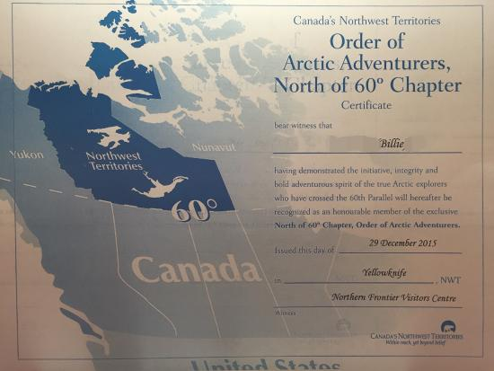 Map Of Canada Yellowknife.Photo2 Jpg Picture Of Northern Frontier Visitors Centre