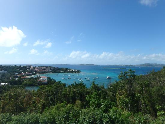 Benner, St. Thomas: View from the fitness center at Secret Harbour